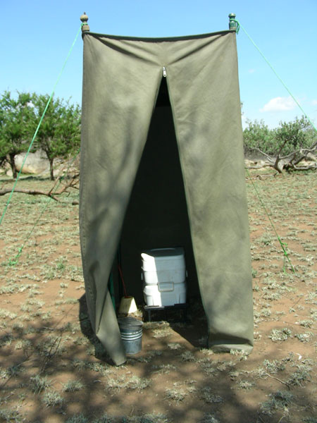 Walking c& shower and toilet. Walking tent & African Environments - Lightweight Wilderness Camp